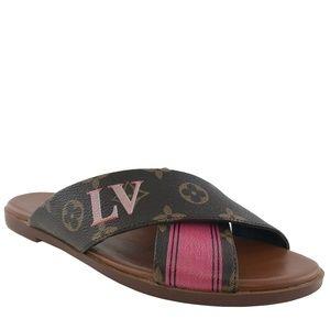 Louis Vuitton Monogram Panorama Flat Mule Sandals